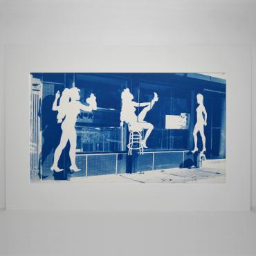 Cyanotype Strip bar, New-York, 1988 (n°1/30)