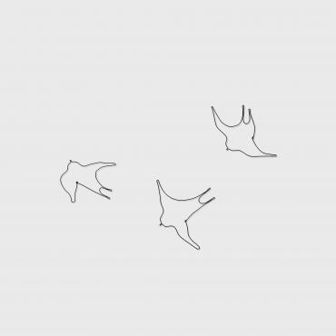 Set of 3 wire swallows