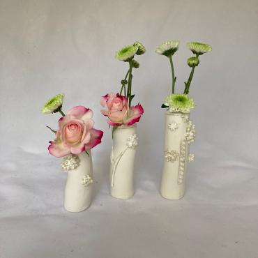 Ensemble 3 mini vases