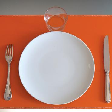 Set de table en cuir UNO orange