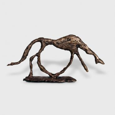Hommage aux Maîtres - Chien Giacometti Bronze