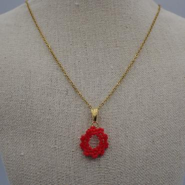 Necklace Capucine corail