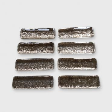 Set of 8 Knife blocks silvery