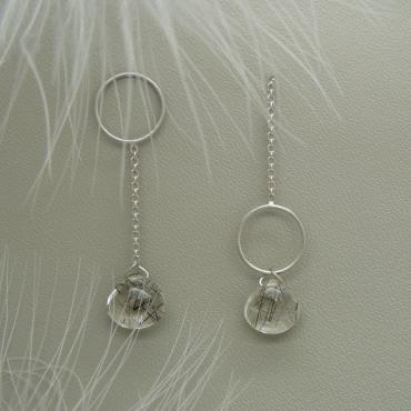 Earrings Cascade Cercle Asymétrique