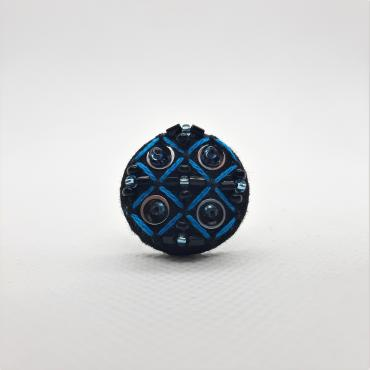 Adjustable ring Grille Bleue