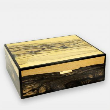 Cigar case - 75 cigars - White Ebony