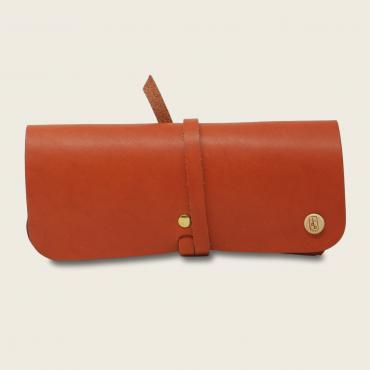 Glasses case, orange