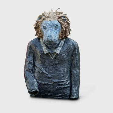 Sculpture SAROO, LE LION EN INDI