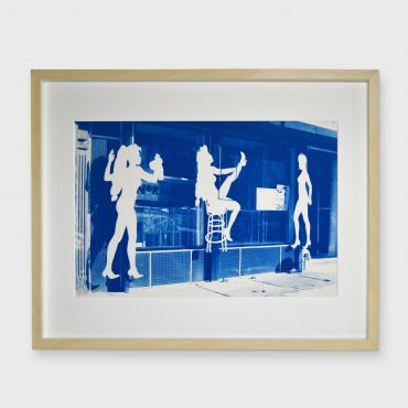 Cyanotype Strip bar, New-York, 1988