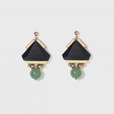Earrings A Trela black