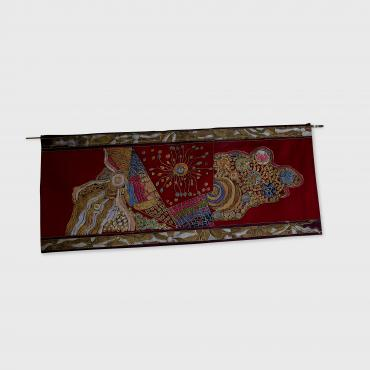Wall hanging in silk Abo