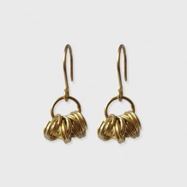 Earrings yellow gold 18 cts