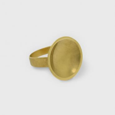 Bague Coupole or jaune