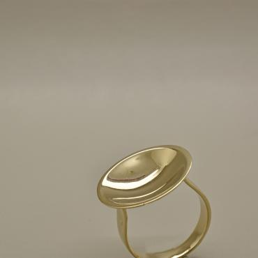 Bague Coupole d'or blanc