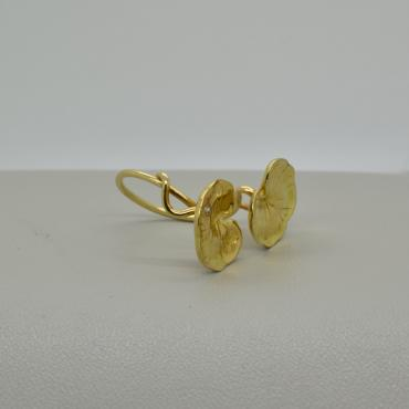 Ring Nénuphar yellow gold, diamonds