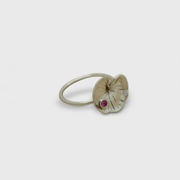 Bague Nénuphar d'or blanc