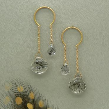 Earrings Cascade Cercle Symétrique