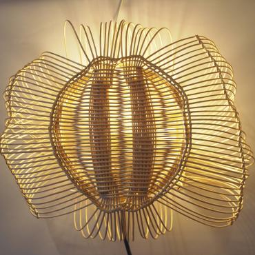 Wall light osier tressage catalan