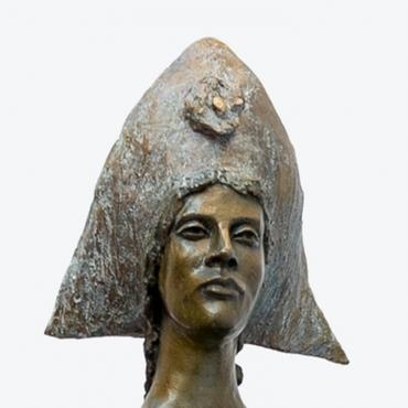 Sculpture bronze Ariane