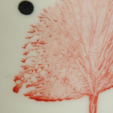 Plate Arbres red (small)