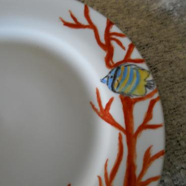 Plate coral and fish