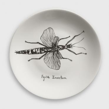 Assiette murale/Wall plate INSECTUM
