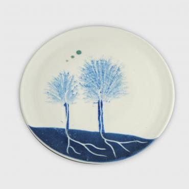 Plate Arbres blue (small)
