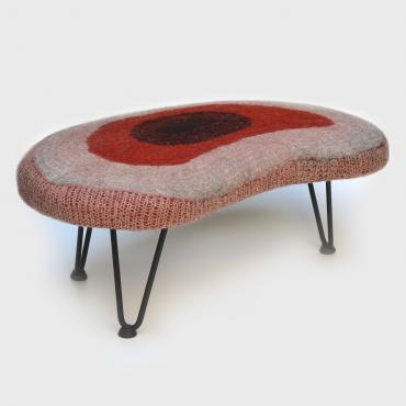 Bench or coffee table en feutre Rouge
