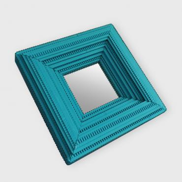 Mirror Square Blue