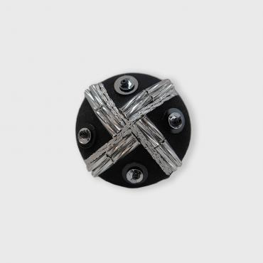 Magnetic brooch Tissage Argent