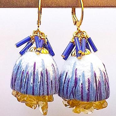 Earrings Cocoon Cobalt x Violet