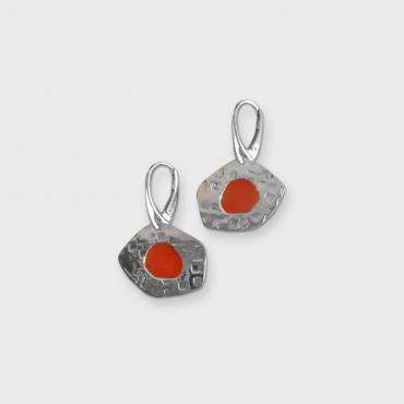 Boucles d'oreilles Juste in Rouge