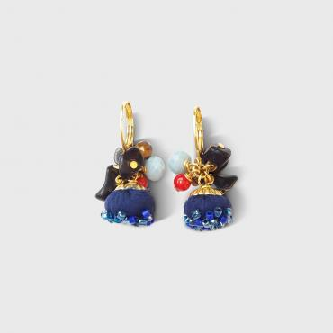 Earrings SANGO Navy blue