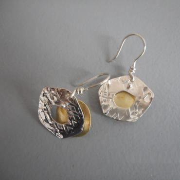 Boucles d'oreille Yellow moon