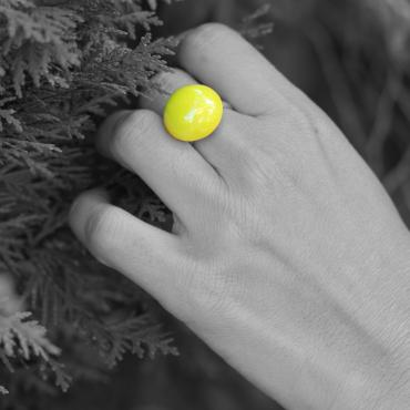 Ring Ludic lime green