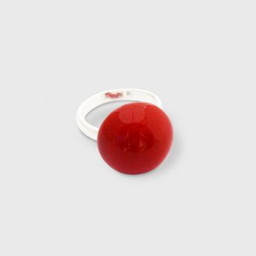 Ring Ludic cherry red