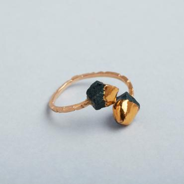 Bague Boutons d'or