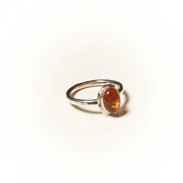 Ring Silver with Amber