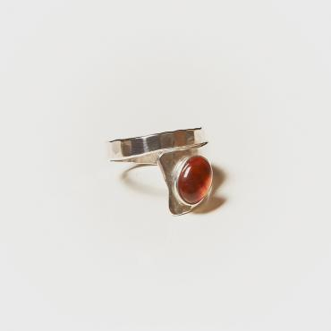 Ring Silver with Amber 3