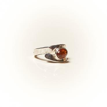 Ring Silver with Amber 4