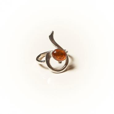 Ring Silver with Amber 5