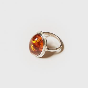 Ring Silver with Amber 9
