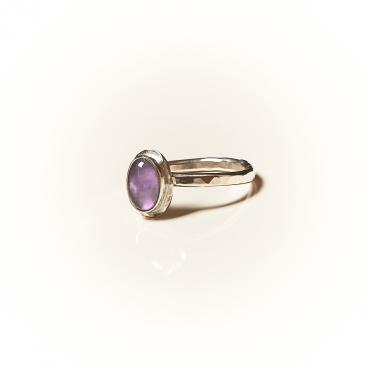 Ring Silver with Amethyst