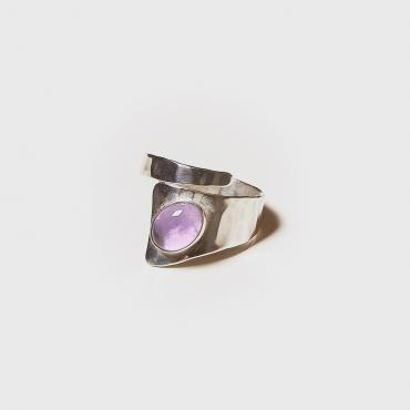 Ring Silver with Amethyst 3