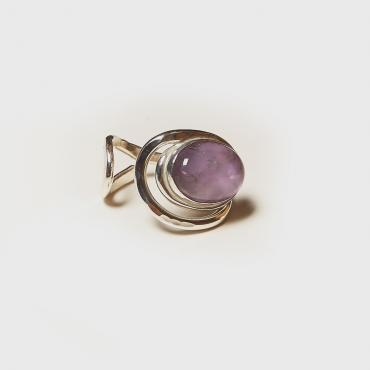 Ring Silver with Amethyst 8