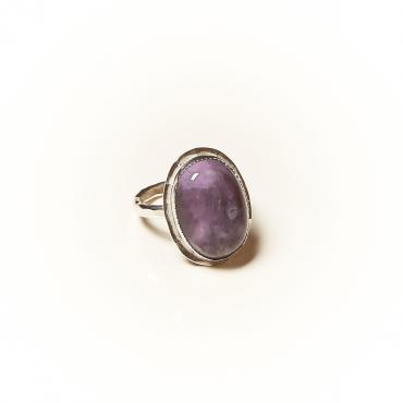 Ring Silver with Amethyst 9