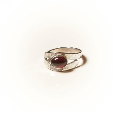 Ring Silver with Garnet 4