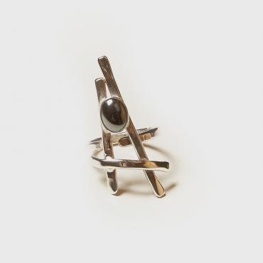 Ring Silver with Garnet 6