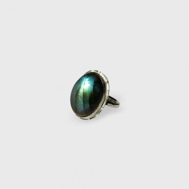Ring Silver with Labradorite 9
