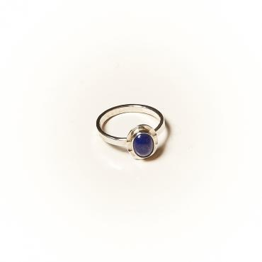 Ring Silver with Lapis lazuli